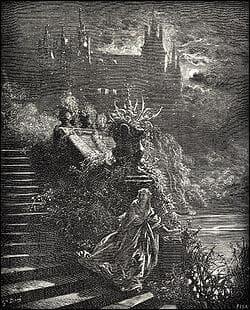 La princesse s'enfuit alors du château, revêtue d'une peau...