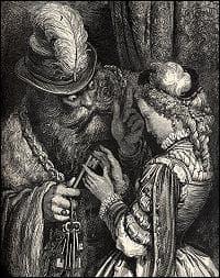 Un riche et vieux gentilhomme terrifie les femmes, tant à cause de sa barbe que de ses mariages successifs.
