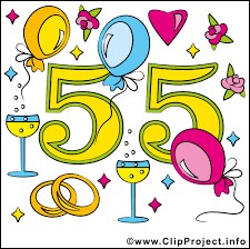 Christiane et Laurent vous invitent à leurs 55 ans de mariage. Ils vont fêter leurs noces ...