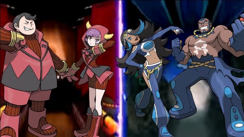 Comment s'appellent les deux teams de Saphir et Rubis ?