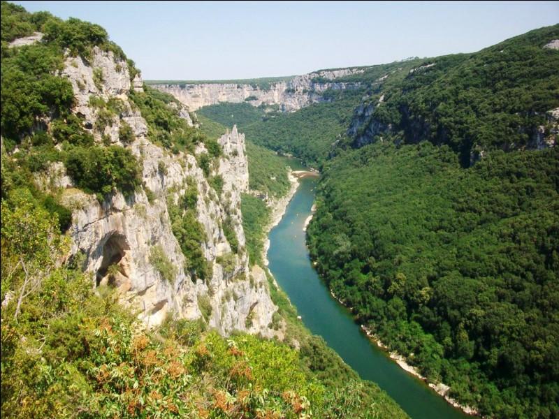 Dans quel cours d'eau la rivière Ardèche se jette-t-elle ?