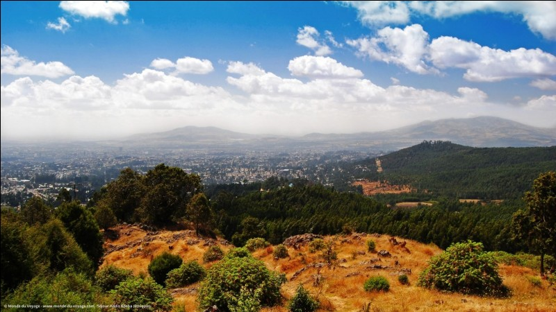 Addis-Abeba - La colonne de Myazya 27 symbolise la libération de la capitale en 1941.