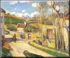"""Qui a peint ce tableau intitulé """"Un carrefour à l'Hermitage Pontoise"""" ?"""