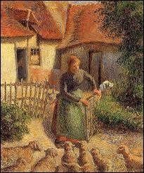 """""""Bergère rentrant ses moutons"""" est un tableau ..."""