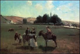 """Qu a peint ce tableau intitulé """"La promenade à âne à la Roche-Guyon"""" ?"""