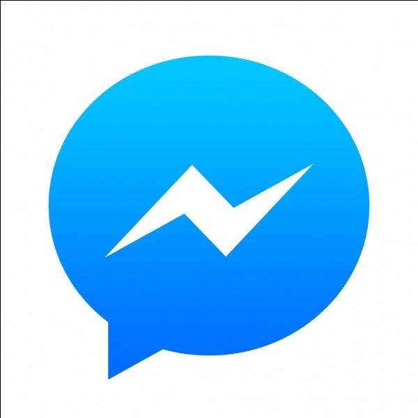 À quel système de messagerie instantanée ce logo représentant une bulle de discussion appartient-il ?