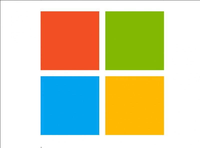 À quelle entreprise d'informatique ce logo coloré appartient-il ?