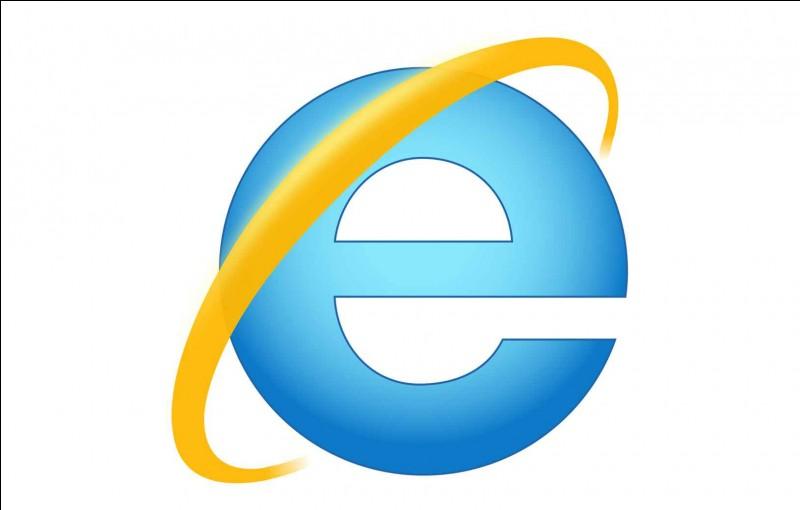 À quel navigateur Internet et logiciel propriétaire ce logo bicolore appartient-il ?