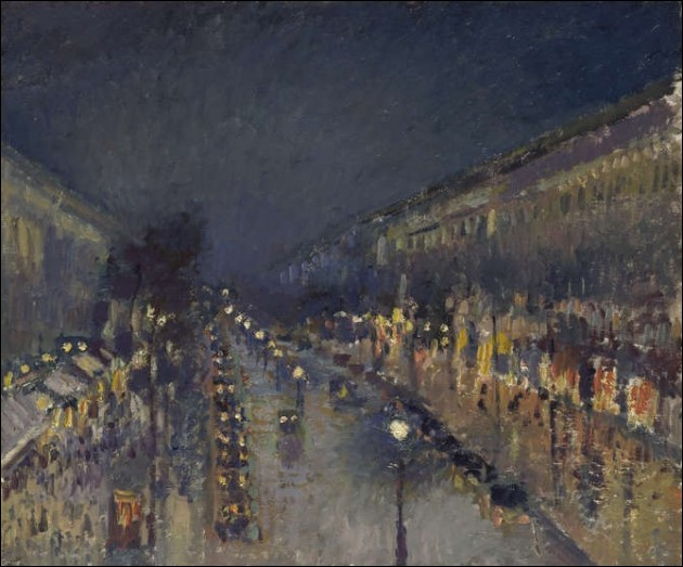 """Qui a peint """"Boulevard Montmartre de nuit"""" ?"""