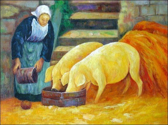 """A qui appartiennent ces """"bretonnes avec cochons"""" ?"""
