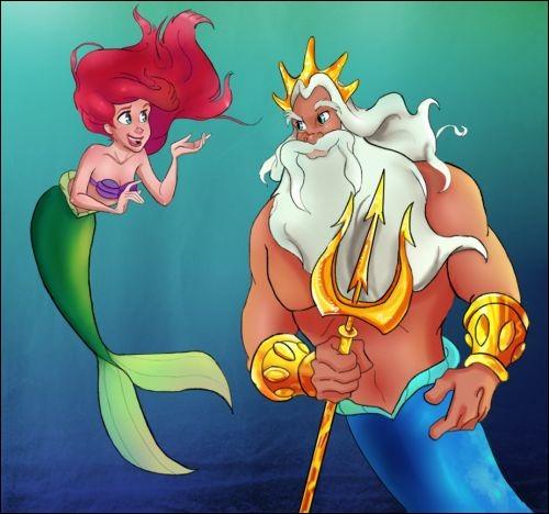 Qui est le roi de ce royaume et le père d'Ariel ?