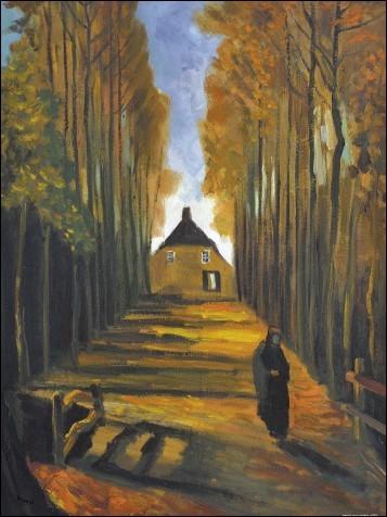 """Quel peintre ayant vécu à Saint-Rémy de Provence, a peint """"Allée de peupliers à l'automne"""" ?"""