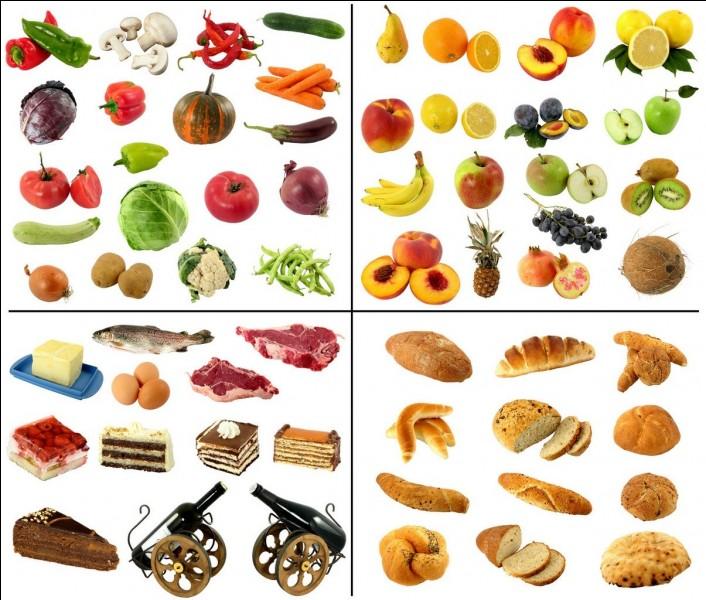 Parmi les aliments ci-dessous, lesquels manges-tu ?