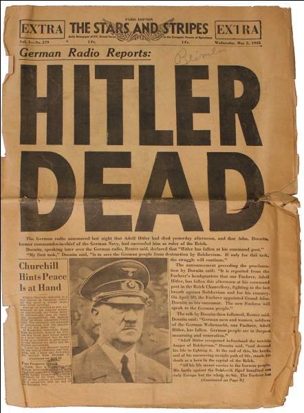 Quand Adolf Hitler se suicida-t-il dans son bunker ?