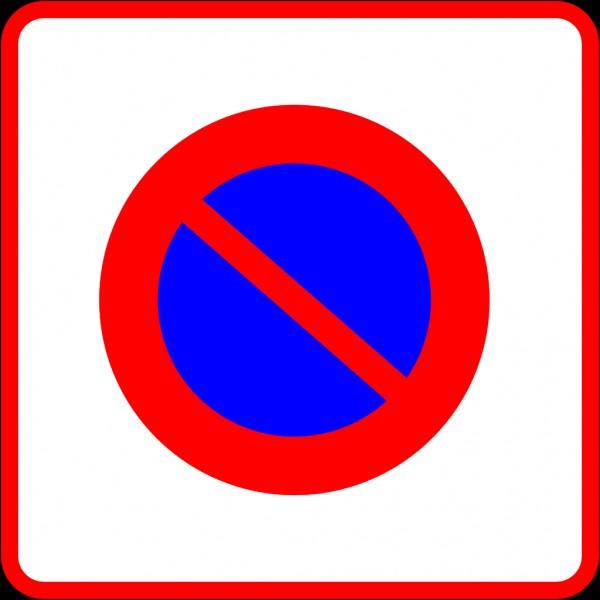 Que risquez-vous si vous vous arrêtez sur un emplacement en présence de ce panneau ?