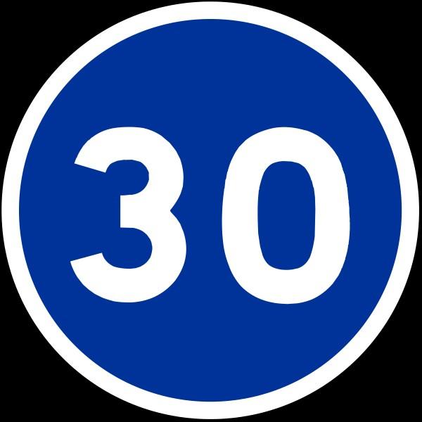 Vous êtes au volant d'une voiture et le compteur de vitesse affiche 25 km/h. Que faites-vous en voyant ce panneau et que vous circulez dans un village ?