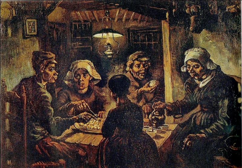 """Je suis un peintre néerlandais, né le 30 mars 1853 à Groot Zundert. Je faisais du symbolisme et du postimpressionnisme. Je me suis coupé une oreille à un moment de ma vie. Une de mes principales œuvres est """"Les Mangeurs de pommes de terre"""". Je suis..."""