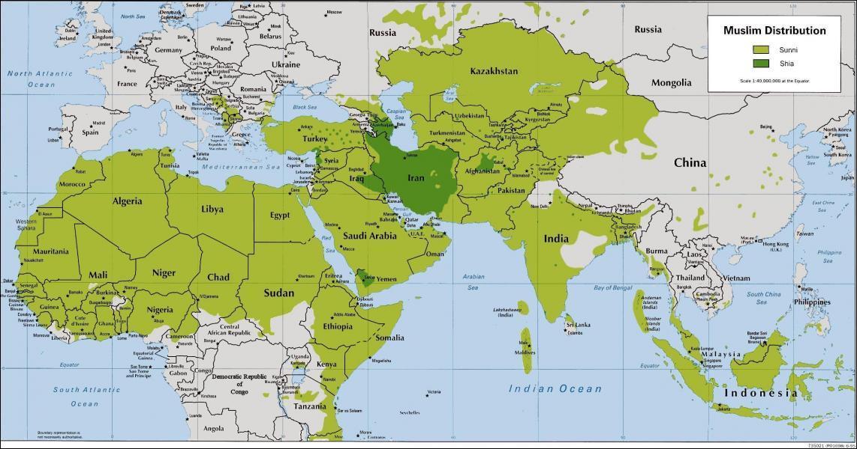 Le sunnisme et le chiisme sont les deux grandes branches de l'Islam, dans quelle proportion ?