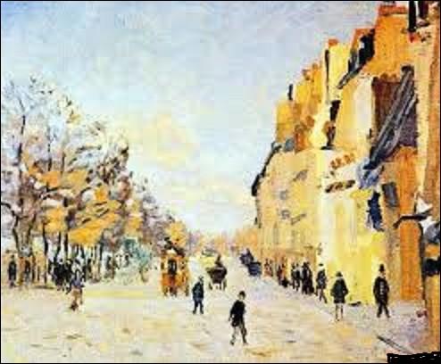 Quel est le nom de cet autre impressionniste qui a peint, entre 1874 et 1875, cette huile sur toile intitulée ''Quai de Bercy, effet de neige'', que l'on peut admirer au musée d'Orsay ?