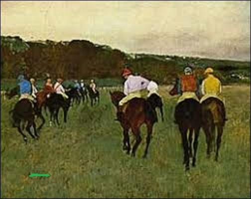Conservée au musée des beaux-arts de Boston ''Cheval de course à Longchamp'' est l'oeuvre d'un peintre impressionniste. Parmi ces trois artistes de ce mouvement, lequel a peint cette toile en 1871 ?