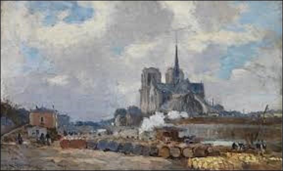 Pourriez-vous me citer le nom de ce peintre de l'École de Rouen qui a réalisé en 1909, cette toile intitulée ''Le Quai de la Tournelle et Notre-Dame-de-Paris'' conservée au musée Marmottan ?