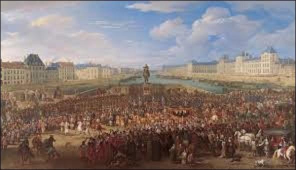 ''Marche du roi accompagné de ses gardes passant sur le Pont-Neuf'' est un tableau réalisé vers 1666. Quel peintre baroque flamand d'origine bruxelloise a peint cette grande toile de 1,88 m de hauteur sur 3,27 m de long, aujourd'hui conservée au musée de Grenoble ?