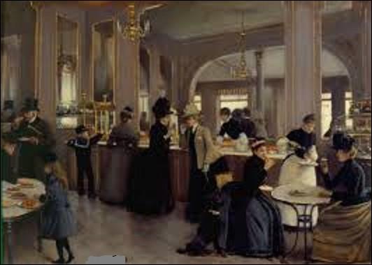 Quel est le nom de ce peintre de genre et portraitiste qui peignit, en 1889, ce tableau dont le titre intégral est ''La Pâtisserie Gloppe (6, avenue des Champs-Élysées, 8e arrondissement, Paris)'', conservé au musée Carnavalet ?