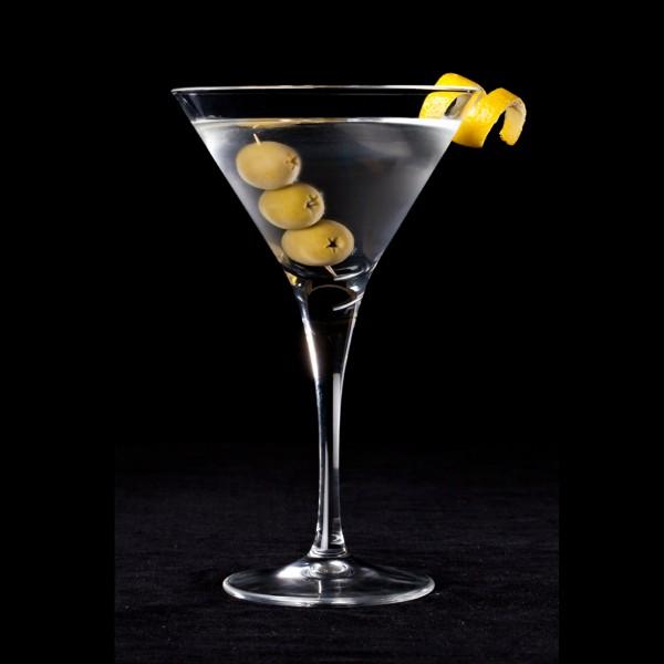 Quel alcool additionnerez-vous à du vermouth blanc pour préparer un Martini dry ?
