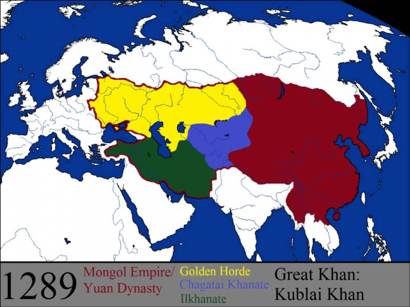 Je suis né vers 1155 et je suis mort en août 1227. Je suis le fondateur de l'Empire mongol, le plus vaste jamais créé. Qui suis-je ?