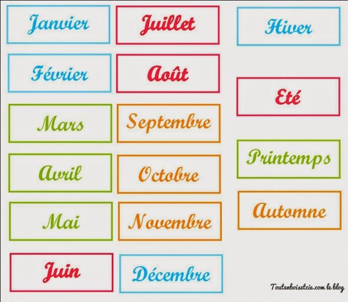 Quel est son mois de naissance ?