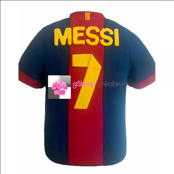 Quel a été le premier numéro de Messi ?