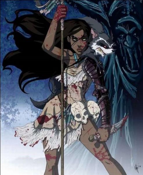 C'est une Amérindienne de la confédération de tribus Powhatans. Qui est cette femme ?
