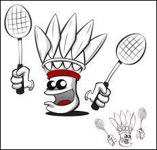 Que lance-t-on quand on joue au badminton ?