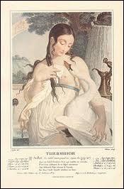 Quels mois du calendrier républicain se situaient en août ?Chaque mois était représenté par une femme et les saints remplacés par la nature.