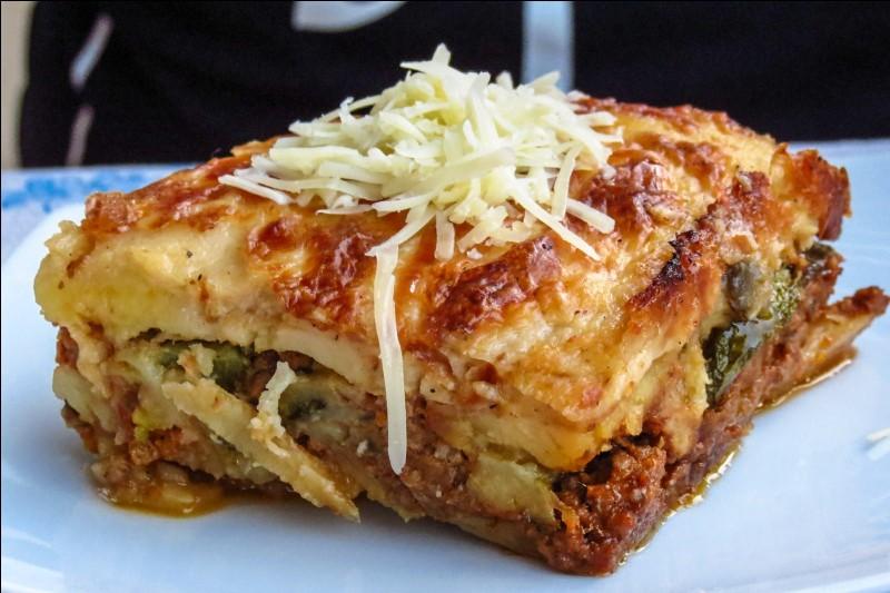 """Ce plat s'appelle """"la moussaka""""."""