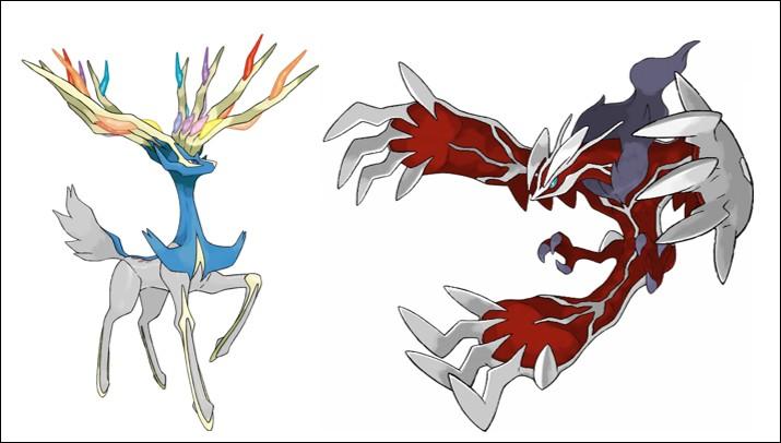 Qui est le troisième Pokémon légendaire avec Yveltal et Xerneas ?