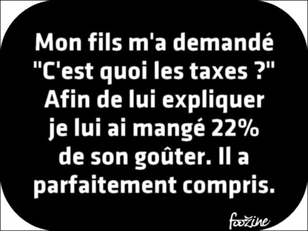 En France nous avons 210 taxes dont une quinzaine créées depuis 2006. Une est particulièrement bizarre.