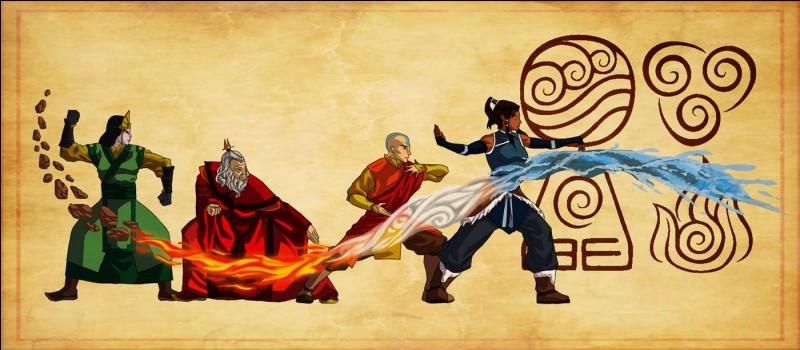 Dans quel ordre l'Avatar a-t-il maîtrisé les éléments ?