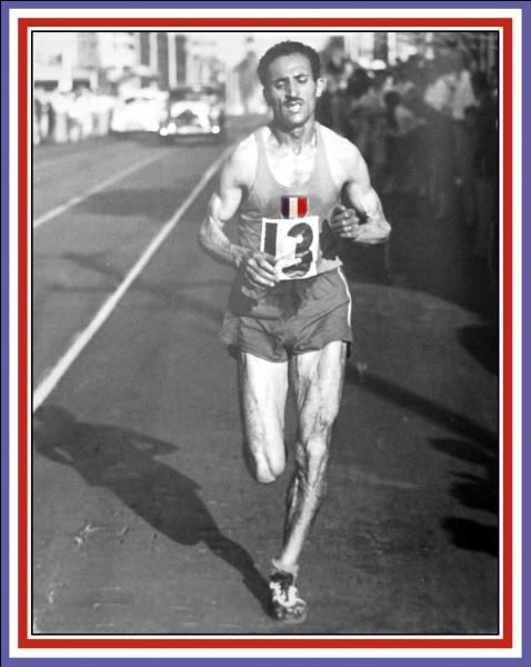 Célèbre athlète né le 1er janvier 1921 en Algérie, il a été le plus médaillé des hommes aux Championnats de France d'athlétisme. Spécialiste des courses de fond, il obtient la médaille d'or du marathon des Jeux olympiques de Melbourne. Il continuera à pratiquer une activité physique importante jusqu'à son décès, dans le Val-de-Marne, le 27 juin 2013. De qui parlons-nous ?