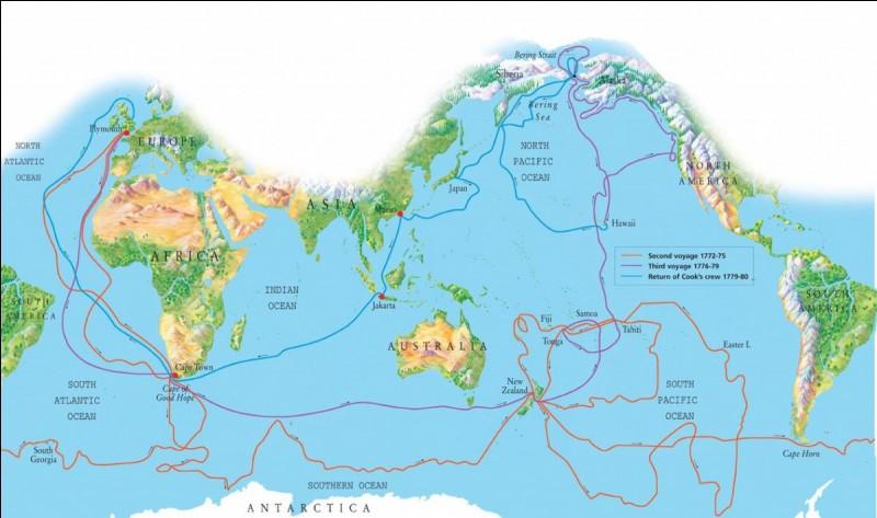 Je suis un navigateur, cartographe et explorateur britannique né en 1728 et mort en 1779 à Hawaï. J'ai découvert l'Australie, la Nouvelle-Zélande, les îles Sandwich du Sud, la Nouvelle-Calédonie et l'Antarctique. Qui suis-je ?