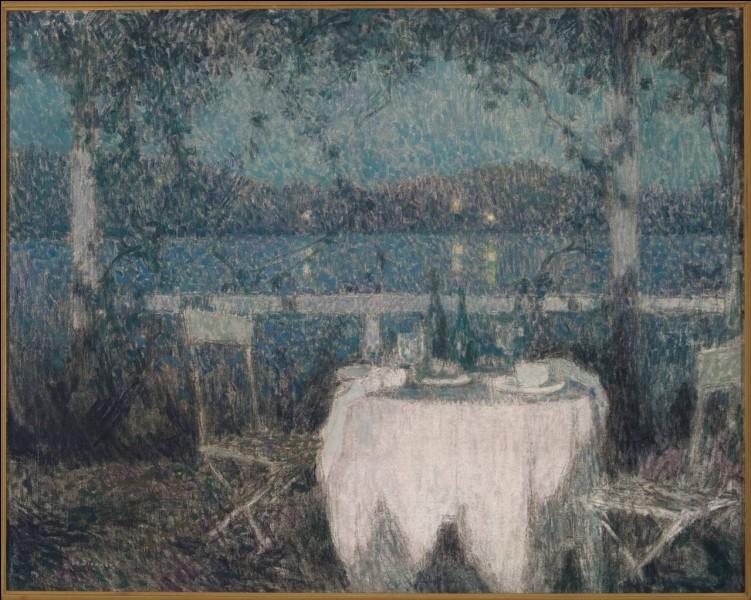 """A qui appartient """"La table sur la terrasse au clair de lune"""" ?"""
