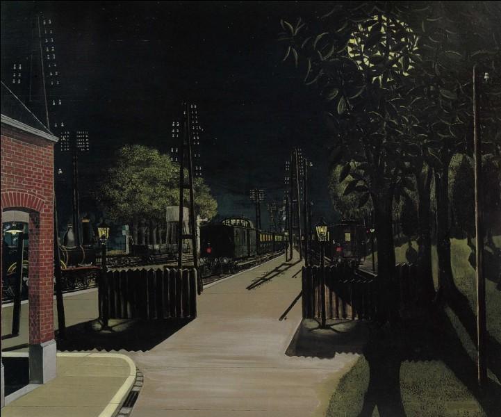 """Qui a peint """"Petite gare la nuit"""" ?"""
