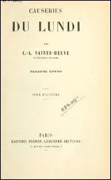 Comment se prénommait Sainte-Beuve ?