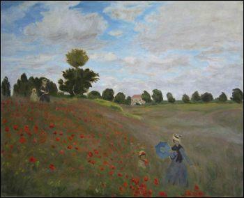 Qui a peint ce tableau, 'les coquelicots' ?