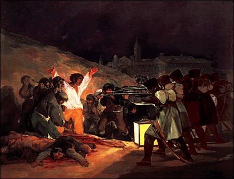 Qui a peint ce tableau 'Tres de mayo'?