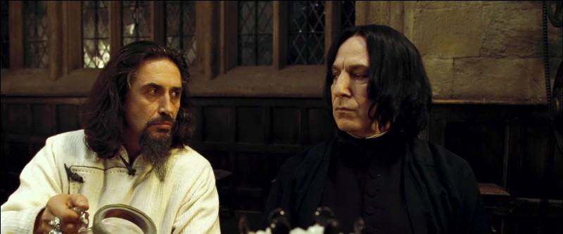 Alors que la fête bat son plein, le soir même, une confrontation a lieu entre Severus Rogue et Igor Karkaroff. La discussion porte sur la Marque des Ténèbres. Quelle est la véritable question que se posent les deux sorciers ?