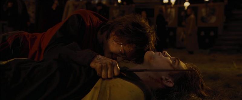"""Suivant le conseil de ses parents, Harry Potter brise le lien unissant les deux baguettes et, récupérant le Portoloin, parvient à repartir du cimetière avec le corps de Cédric Diggory. De retour au Labyrinthe, c'est l'effervescence car les deux champions sont là. Mais, dans le film """"Harry Potter et la Coupe de Feu"""", quel est le personnage qui se rend compte le premier que quelque chose ne va pas ?"""