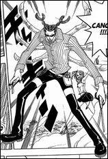 Qu'est-ce que dit toujours l'esprit du cancer de Lucy contre les espérances de Happy dans le manga ?