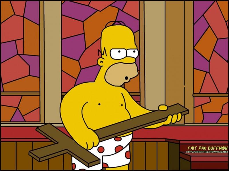 Quelle est la couleur du veston que Bart met pour aller à l'église ?
