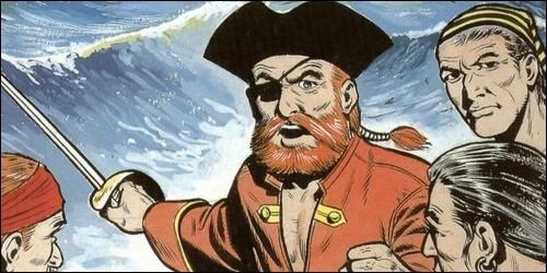 Quel est le nom du vaisseau du célèbre pirate Barbe-Rouge dans la bande dessinée du même nom ?